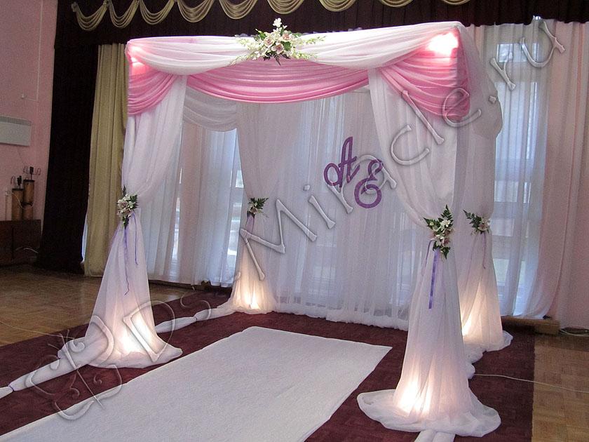 На свадьбу фото шторами