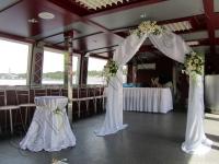 Оформление свадьбы на теплоходе и в ресторане 10.09.2010