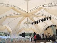 Оформление жемчужной свадьбы в шатре Довиль 17.08.2013