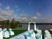 Оформление венчания в яхт-клубе Элит Кроус 12.08.2012