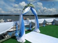 Оформление свадьбы в яхт-клубе Элит Кроус 30.07.2011