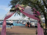 Оформление венчания в яхт-клубе Элит Кроус 13.08.2011