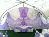 Оформление свадьбы в шатре Брехово 21.07.2012